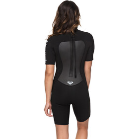 Roxy 2/2 Prologue Spring F-Lock Back Zip Short Sleeve Wetsuit Women Black